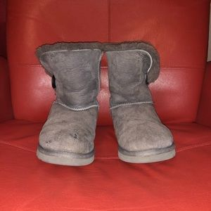 UGG Gray Short Button Boots